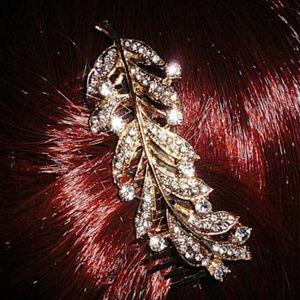 Sparkling Rhinestone Floral Wedding Hair Comb